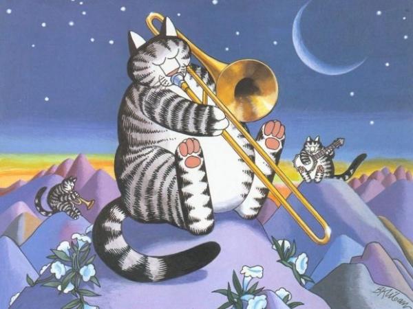 Cats_musicians_J.K.Kliban'а