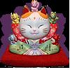 Maneki-Neko_with-kittens