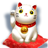 white_Maneki-Neko