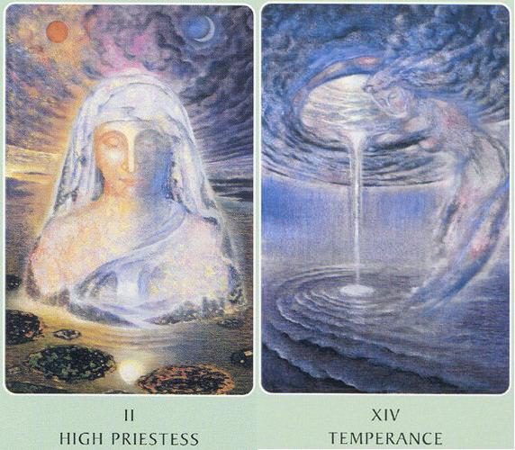 II-Priestess_XIV-Temperance