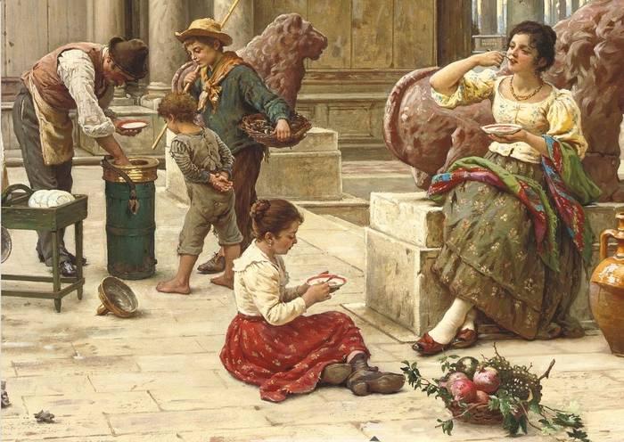 «A Venetian ice cream seller», Antonio Ermolao Paoletti