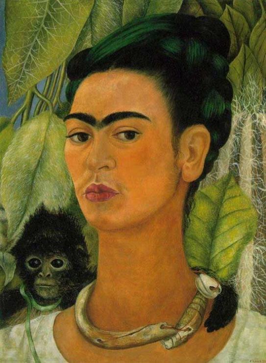 «Автопортрет с обезьянкой», Фрида Кало, 1938