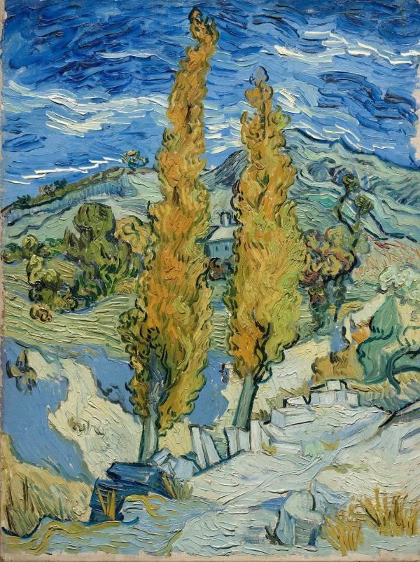 «Два тополя по дороге к холмам», Винсент Ван Гог, 1889