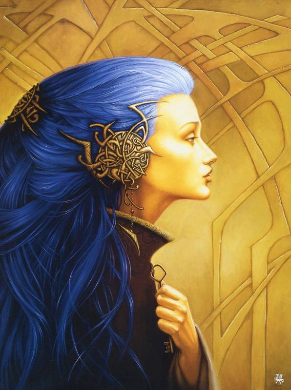 Синие волосы, Сандрин Гестин