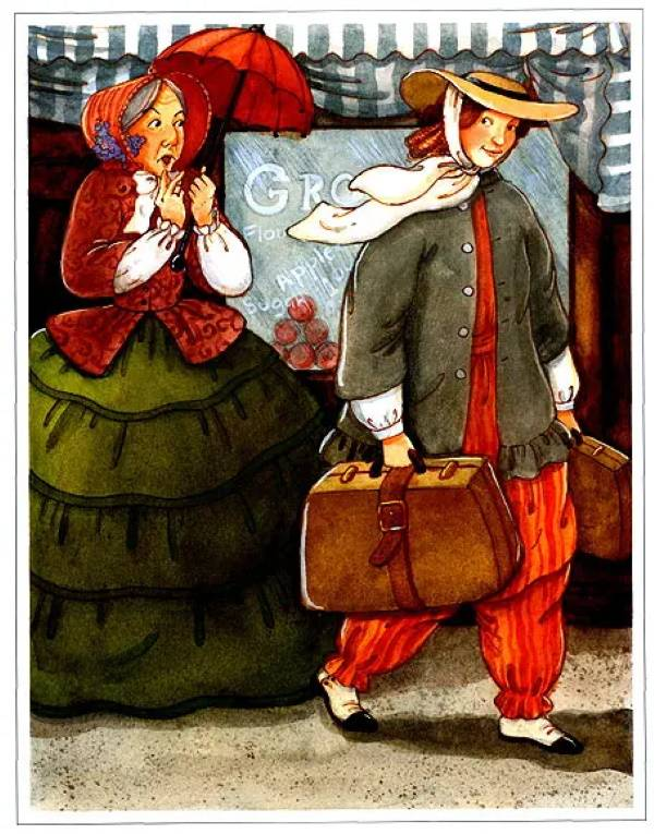 С чемоданом, Мэри ДеНил Морган