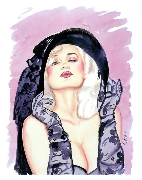 Блондинка в чёрной шляпе, Оливия Де Берардинис