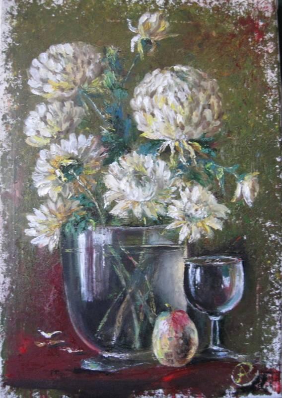 Осенние хризантемы, Антонина Стреленко