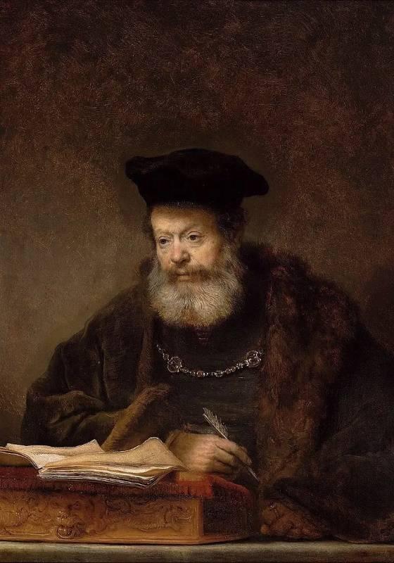 Учёный за письменным столом, Рембрандт Харменс ван Рейн