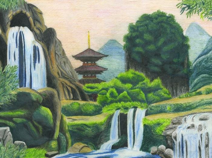 Японский пейзаж, Мария Шеффер